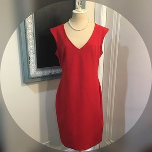 Ann Taylor Red A-Line Dress